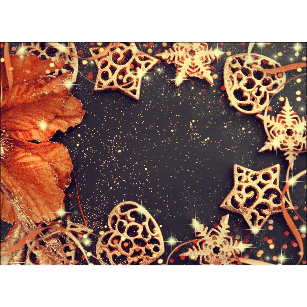 Weihnachtsdeko Gold Braun.Tischset I Platzset Weihnachtsdeko In Gold Und Braun Aus Papier