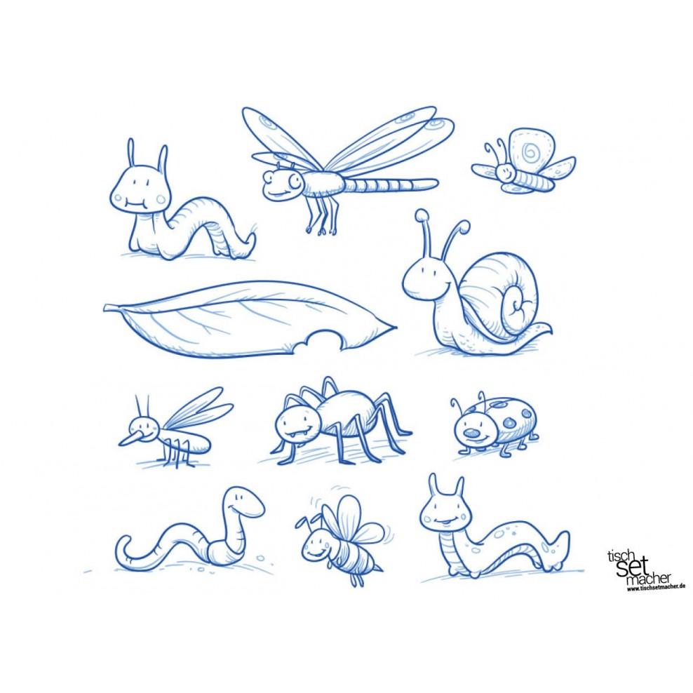 bilder zum ausmalen insekten - malbild
