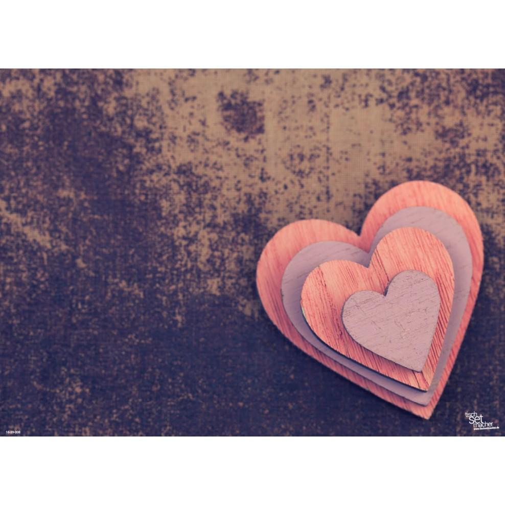 Tischsets Platzsets Valentinstag Herz In Herz Aus Papier 44