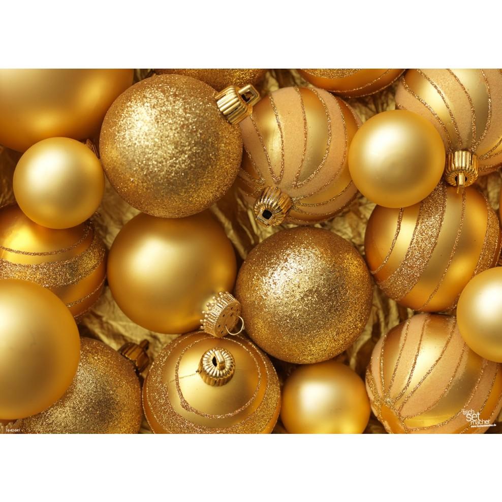 Goldene Weihnachtskugeln.Tischsets Platzsets Goldene Weihnachtskugeln 2 Aus Papier 44