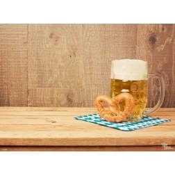 Tischset | Platzset - Bier & Brezeln - aus Papier - 44 x 32 cm