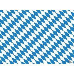 Tischset | Platzset - bayerische Flagge - aus Papier - 44 x 32 cm