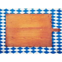 Tischset | Platzset - Brotzeitbrett - aus Papier - 44 x 32 cm