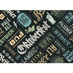 Tischset | Platzset - Bier Typografie - aus Papier - 44 x 32 cm