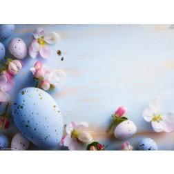 Ostereier-Dekoration in Pastellfarben - Tischset aus Papier 44 x 32 cm