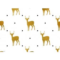 Grafikmotiv mit goldenen Rentieren - Tischset aus Papier 44 x 32 cm