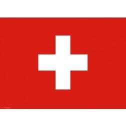 Flagge Schweiz - Tischset aus Papier 44 x 32 cm