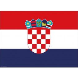Flagge Kroatien - Tischset aus Papier 44 x 32 cm