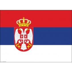 Flagge Serbien - Tischset aus Papier 44 x 32 cm