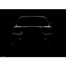 Auto Silhouette schwarz - Tischset aus Papier 44 x 32 cm
