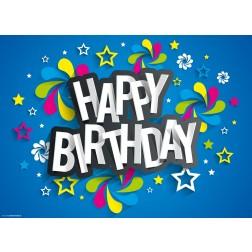 Happy Birthday  - Tischset aus Papier 44 x 32 cm