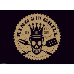King of the Grill  - Tischset aus Papier 44 x 32 cm