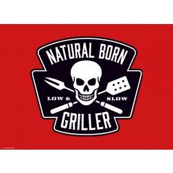 Natural Born Griller Rot - Tischset aus Papier 44 x 32 cm