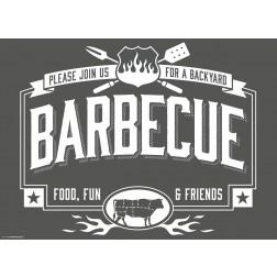 Barbecue - Tischset aus Papier 44 x 32 cm