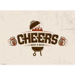 Cheers beige - Tischset aus Papier 44 x 32 cm
