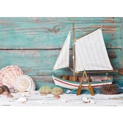 Segelschiff & maritime Deko  - Tischset aus Papier 44 x 32 cm