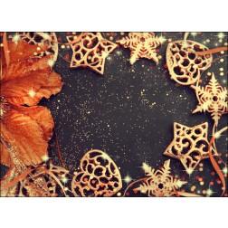 Weihnachtsdeko in gold und braun - Tischset aus Papier 44 x 32 cm