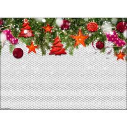 Grafik Weihnachtsanhänger - Tischset aus Papier 44 x 32 cm