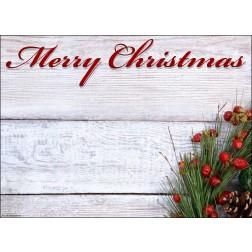 """Schriftzug """"Merry Christmas"""" mit Weihnachtsgesteck - Tischset aus Papier 44 x 32 cm"""