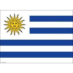 Flagge Uruguay - Tischset aus Papier 44 x 32 cm
