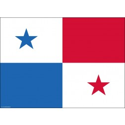 Flagge Panama - Tischset aus Papier 44 x 32 mm