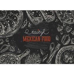 Mexican Food  - Tischset aus Papier 44 x 32 cm