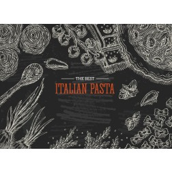 Italian Pasta  - Tischset aus Papier 44 x 32 cm