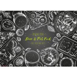 Beer & Pub Food  - Tischset aus Papier 44 x 32 cm