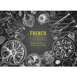 French Cuisine  - Tischset aus Papier 44 x 32 cm