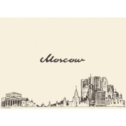 Moskau - Tischset aus Papier 44 x 32 cm