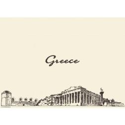 Athen / Greece - Tischset aus Papier 44 x 32 cm