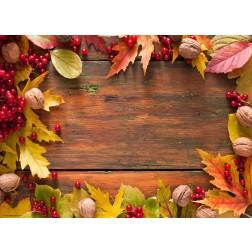 Blätter, Beeren und Walnüsse - Tischset aus Papier 44 x 32 cm