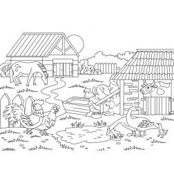 Auf dem Bauernhof 2 - Tischset aus Papier 44 x 32 cm