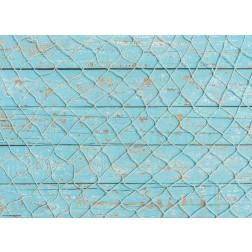 Netz auf Blau - Tischset aus Papier 44 x 32 cm