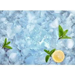 Erfrischung auf Eis - Tischset aus Papier 44 x 32 cm