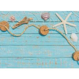 Netz mit Muscheln - Tischset aus Papier 44 x 32 cm