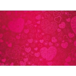 Herzchenmuster - Tischset aus Papier 44 x 32 cm