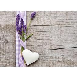 Lavendel mit Herz - Tischset aus Papier 44 x 32 cm