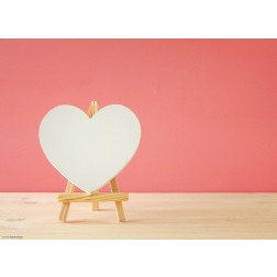 Herz Staffelei - Tischset aus Papier 44 x 32 cm