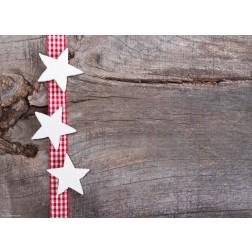 Sterne auf rotem Band - Tischset aus Papier 44 x 32 cm