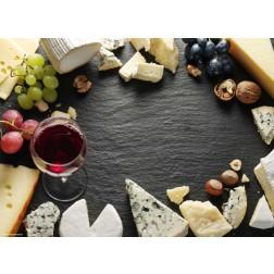 Weinvielfalt auf Schieferplatte - Tischset aus Papier 44 x 32 cm