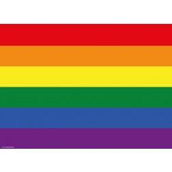 Flagge Regenbogen - Tischset aus Papier 44 x 32 cm