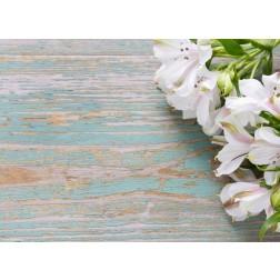 Weiße Lilien  - Tischset aus Papier 44 x 32 cm
