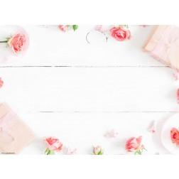 Rosen mit Päckchen - Tischset aus Papier 44 x 32 cm