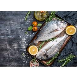 Fische im Backblech - Tischset aus Papier 44 x 32 cm