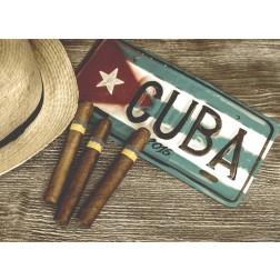 Kuba Zigarillos- Tischset aus Papier 44 x 32 cm