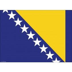 Flagge Bosnien und Herzegowina - Tischset aus Papier 44 x 32 cm