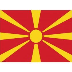 Flagge Nordmazedonien - Tischset aus Papier 44 x 32 cm