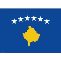 Flagge Kosovo - Tischset aus Papier 44 x 32 cm
