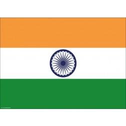 Flagge Indien - Tischset aus Papier 44 x 32 cm